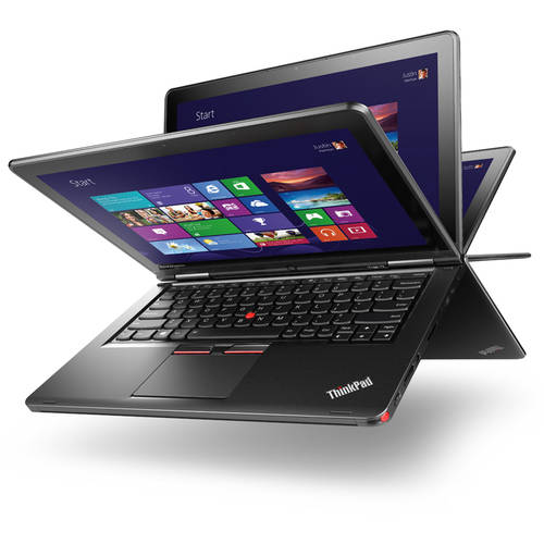 "Lenovo Ultrabook Black 12.5"" ThinkPad Yoga 12 20DL0038US touch screen 2-in-1 Convertible Laptop PC with Intel Core i5-5300 Processor, 8GB Memory, 180GB Solid State Drive and Windows 8 Pro"