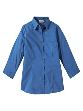Edwards Garment Broadcloth 3/4 Sleeve Maternity Shirt, Style 5029