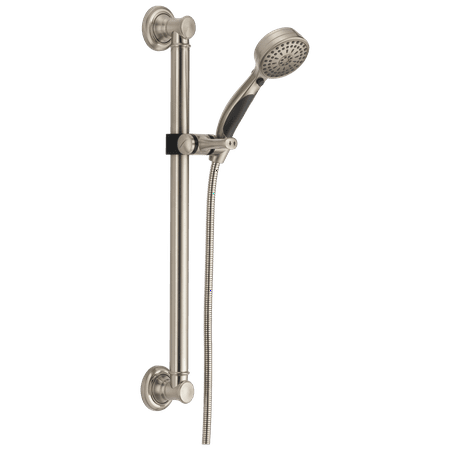 Delta ActivTouch® 9-Setting Hand Shower with Traditional Slide Bar / Grab Bar Stainless