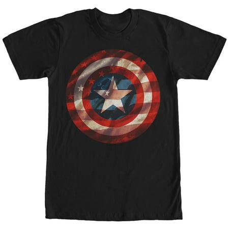 Marvel Men's Captain America Shield Flag T-Shirt (Captain America Stealth Shirt)