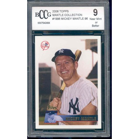 2006 topps mantle collection #1996 MICKEY MANTLE yankees BGS BCCG 9