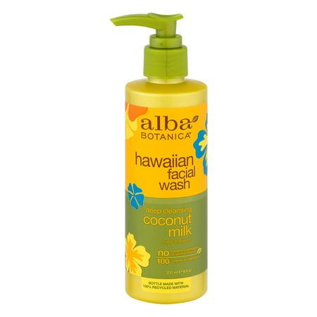 Alba Botanica Hawaiian Facial Wash Deep Cleansing Coconut Milk  8 0 Fl Oz