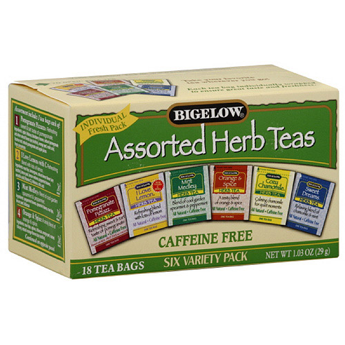 Bigelow Assorted Herb Caffeine Free Tea Bags, 18ct  (Pack of 6)