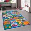 """Allstar Kids / Baby Room Area Rug. Learn ABC / Alphabet Letters Transportation Bright Colorful Vibrant Colors (3 3"""" x 4 10"""")"""