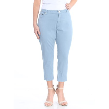 MICHAEL KORS Womens Blue Ankle Skinny Jeans Petites  Size: 14 - Michael Kors Petite Jeans