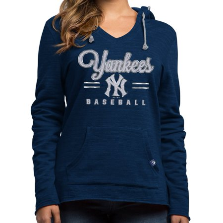 """New York Yankees Womens Majestic MLB """"Chase The Dream"""" Hooded Sweatshirt by"""