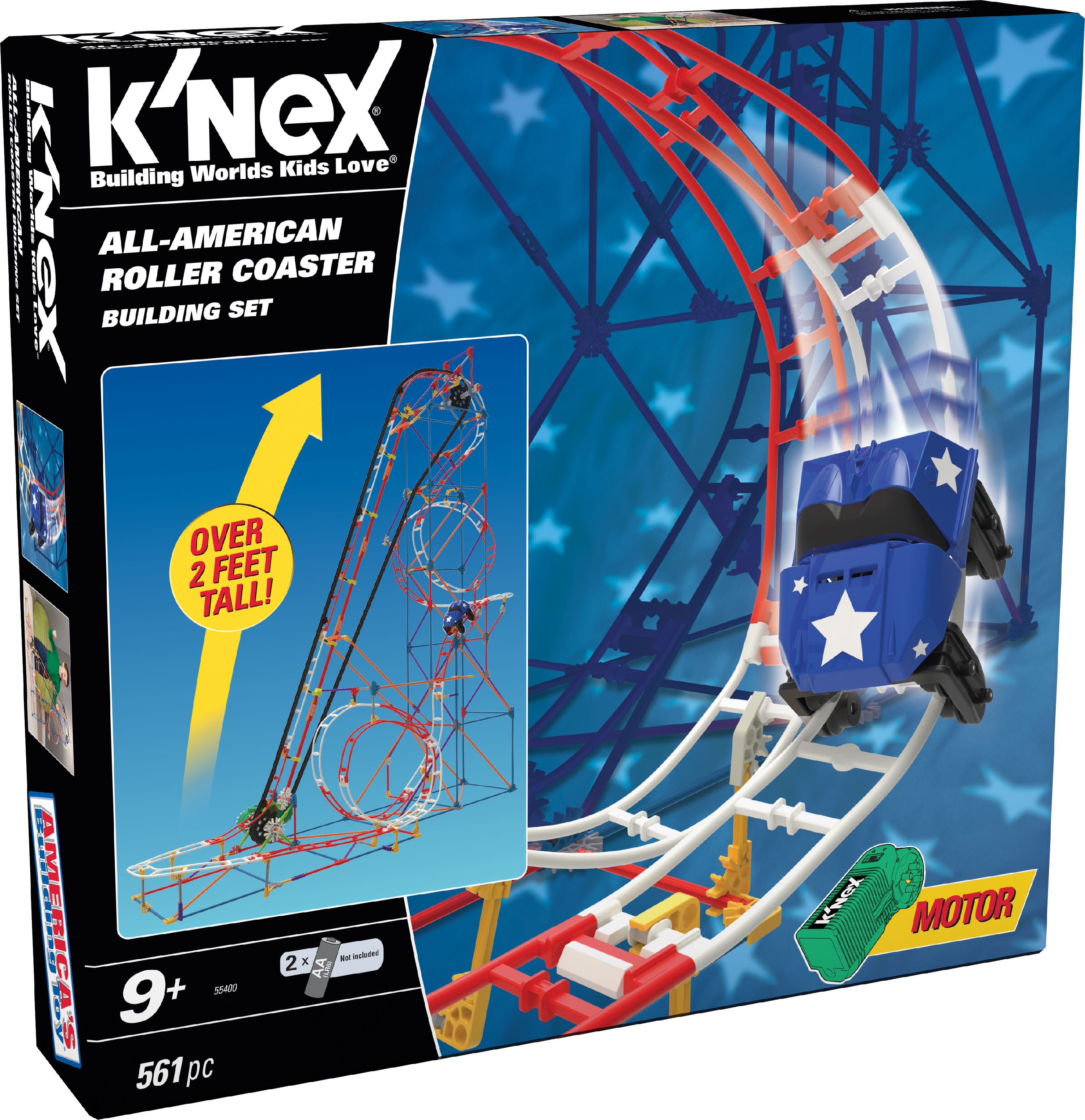 K'NEX ALL-AMERICAN ROLLER COASTER BUILDING SET