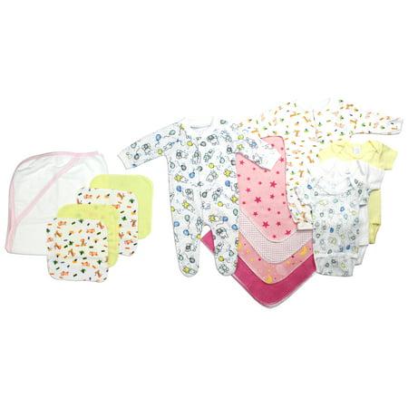 Bambini Newborn Baby Shower Layette Gift Set, 14pc (Baby Girls) - Idee Costumi Halloween Bambini