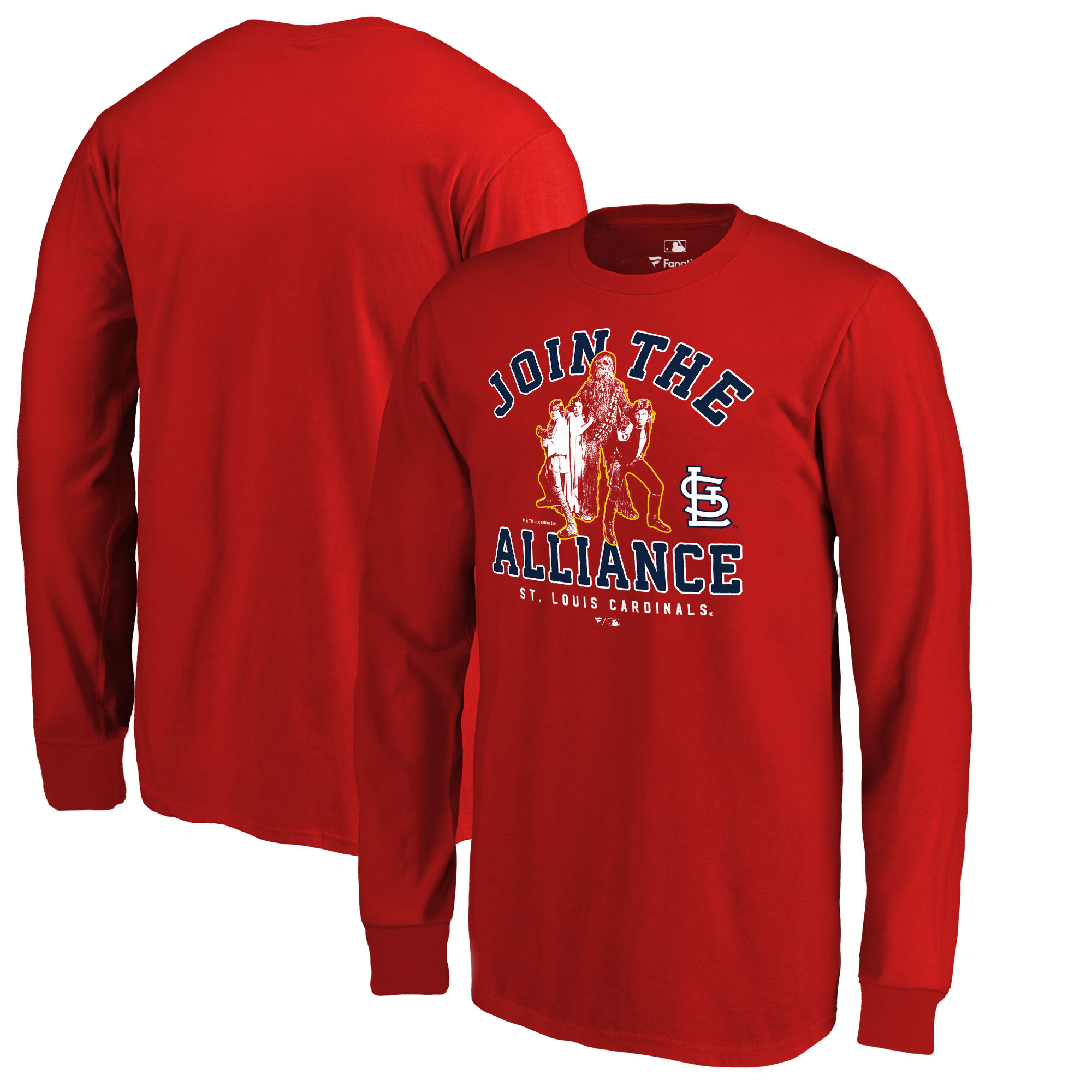 St. Louis Cardinals Fanatics Branded Youth MLB Star Wars Join The Alliance Long Sleeve T-Shirt - Red