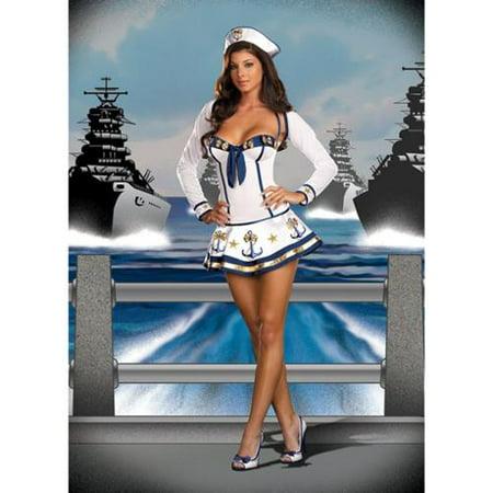 Sexy Sailor Makin' Waves Costume Adult - Adult Sailor Dress