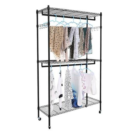 Zimtown Wire Shelving Garment Rack Closet System Storage Organizer Clothes Hanger Dry Shelf