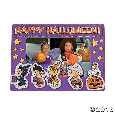 Halloween Frames For Photos (Peanuts® Halloween Picture Frame Magnet Craft)