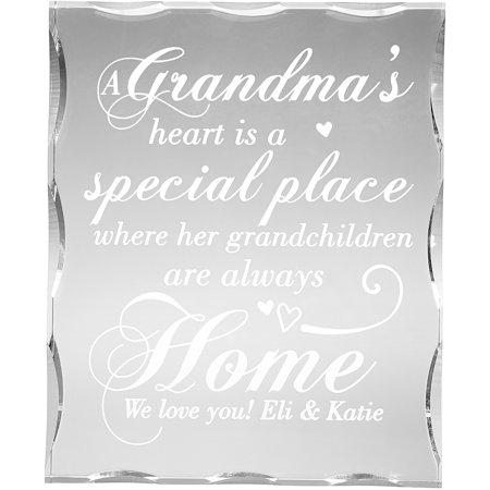 Her Special Place - Personalized Her Heart is a Special Place Block, Grandma