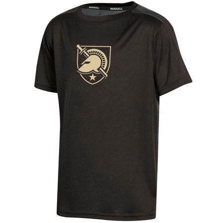 Youth Russell Black Army Black Knights Color Block T-Shirt