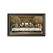"DECORARTS-The Last Supper by Leonardo da Vinci. Framed size: 34x20"". Giclee Print"