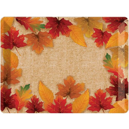 Creative Converting Fall Leaves Plastic Tray Card Night Plastic Tray