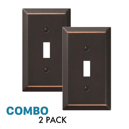 2-Pack Toggle Light Switch Wall Plate Decorative, Oil Rubbed Bronze ()