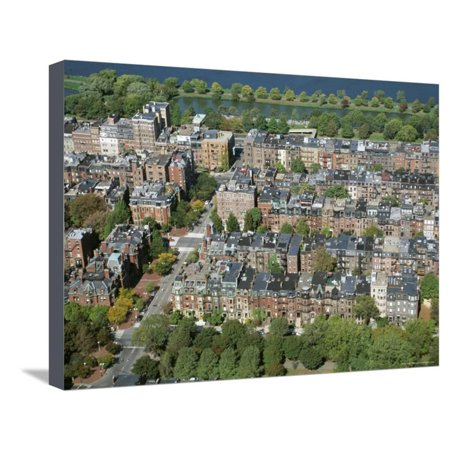 Aerial View of Back Bay Area, Boston, Massachusetts, New England, USA Stretched Canvas Print Wall Art By Fraser Hall Boston Back Bay Area