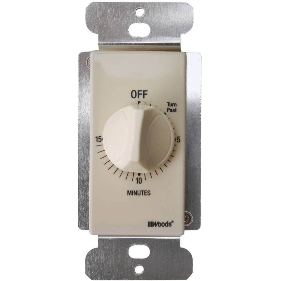 Woods 59712 In-Wall 15-Minute Spring Wound Countdown Timer, Light Almond by Woods