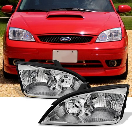 - Fit 2005 2006 2007 Ford Focus Left + Right Side Headlights Head Lamps Assembly