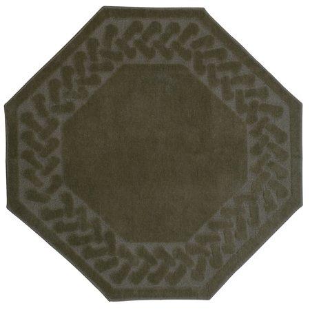 - Madison Industries Herringbone Rug Collection Octagon (4'x4')