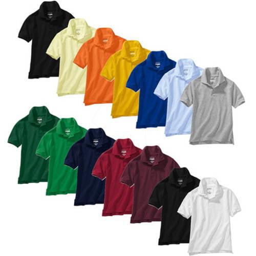 George Girl or Boy School Uniforms Short-Sleeve Polo Shirts, 4-Pack Value Bundle