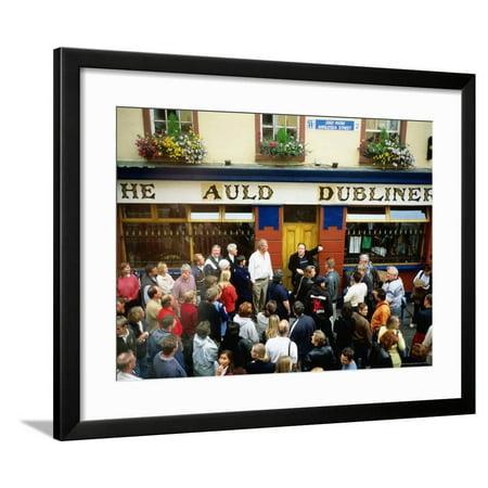 Irish Music Pub Crawl, The Auld Dubliner, Temple Bar, Ireland Framed Print Wall Art By Holger - Bar Crawl Ideas