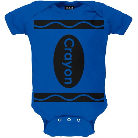 Halloween Blue Crayon Costume Baby One Piece - Cheap Baby Costumes For Halloween
