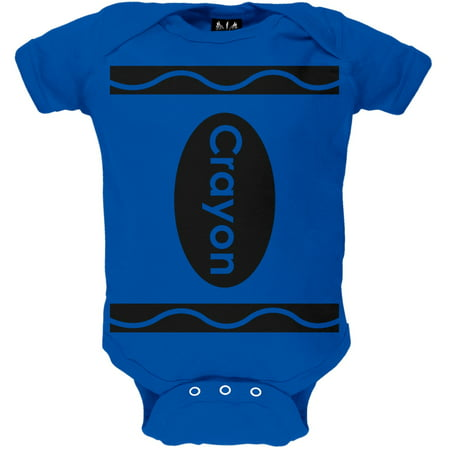 Halloween Blue Crayon Costume Baby One Piece