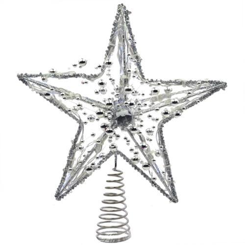 Kurt Adler 10 Battery Operated 20 Light Metal Led Star Tree Topper