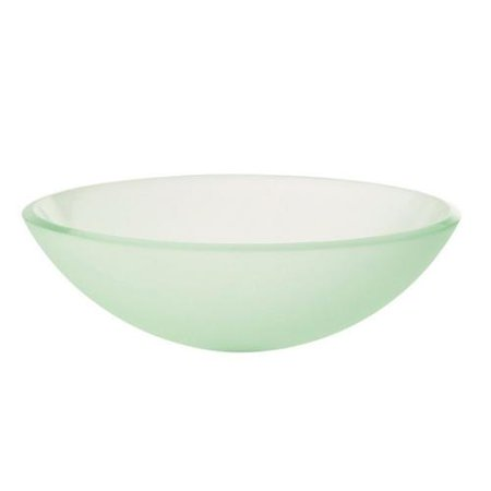 Decolav 39 miami 39 frosted tempered glass vessel sink for Are vessel sinks out of style