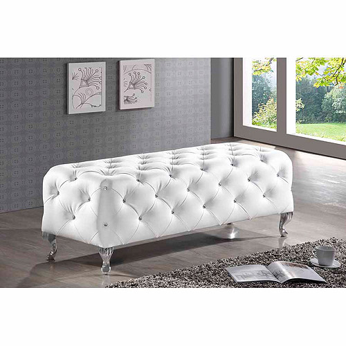 Baxton Studio Stella Crystal Tufted Modern Bench, Multiple Colors by Baxton Studio