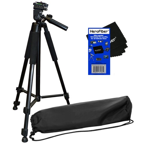 510 140 240 220 1000 Digital Cameras and Camcorders w Ultra Gentle Cleaning Cloth 255 HeroFiber 50 Light Weight Aluminum Photo//Video Tripod /& Carrying Case for Canon Ixus 135 500 230