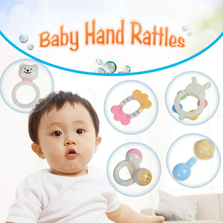 GOODWAY 3315 Baby Hand Rattles Kit Teether Bed Bell Toys Kids Happy Ne