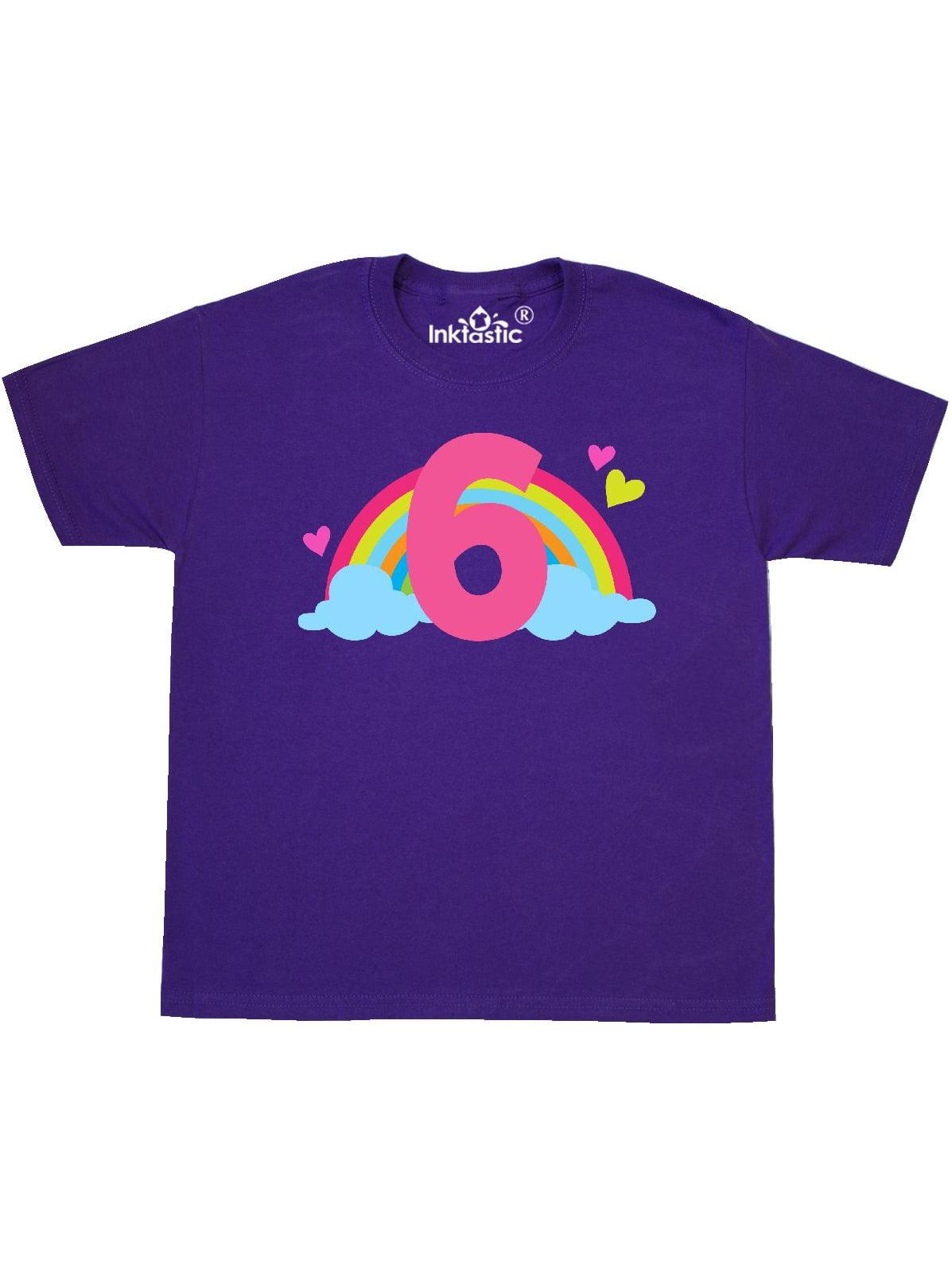 6th Birthday Rainbow Youth T-Shirt
