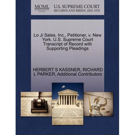 Sale Vintage Record (Lo Ji Sales, Inc., Petitioner, V. New York. U.S. Supreme Court Transcript of Record with Supporting Pleadings )