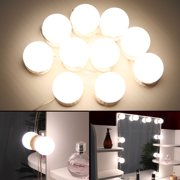 10Pcs LED USB Makeup Mirror Light Bulbs Dimmable Hollywood Vanity String Lamps