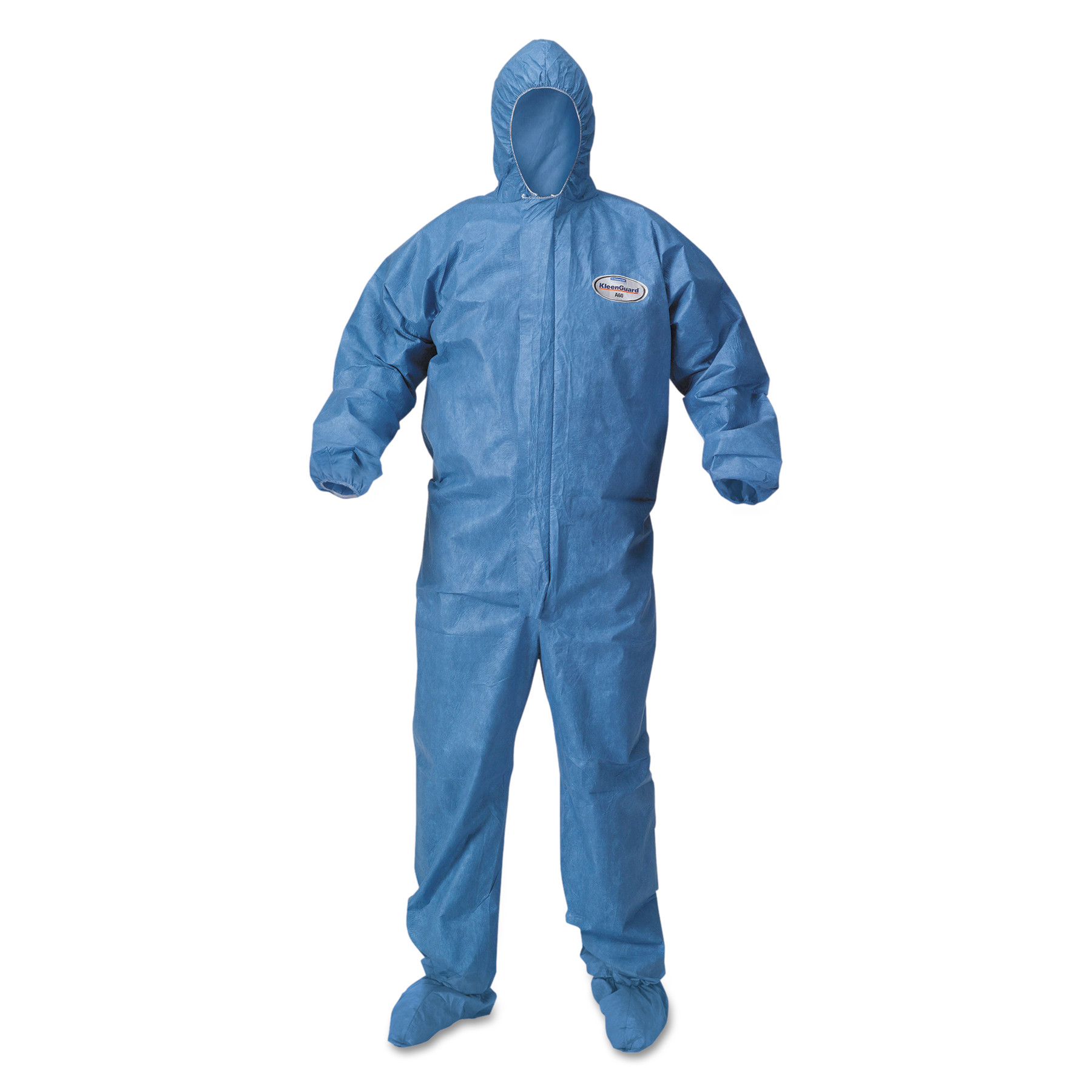 KleenGuard A60 Blood and Chemical Splash Protection Coveralls, X-Large, Blue, 24 Per... by Kimberly Clark