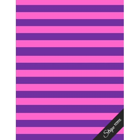 Stripe Notebook Collection: Pink Purple Stripes, Writing Composition Notebook/Journal/Diary Gift Idea (100 Pages, 8.5 X 11 (Paperback) - Pink And Purple Room Ideas