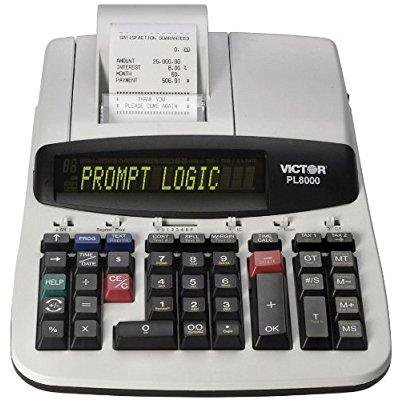 Victor Technology Pl8000 Thermal Printing Calculator  Prompt Logic  Help Key  8 0 Lines Per Second