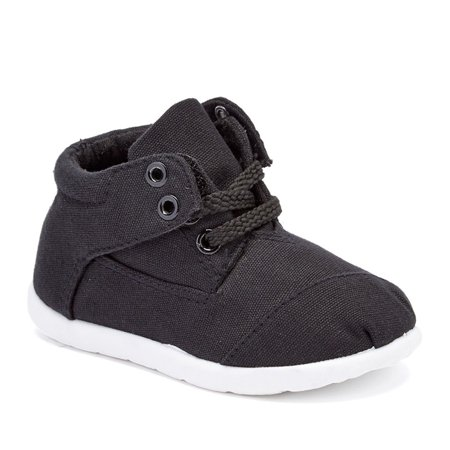 Boys Navy Textile Upper Lace Up Mid-Top Casual Sneaker Shoes 11-4