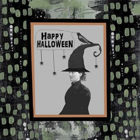 Halloween Witch and Crow Poster Print by Sarah Ogren - Black Crowes Halloween Poster