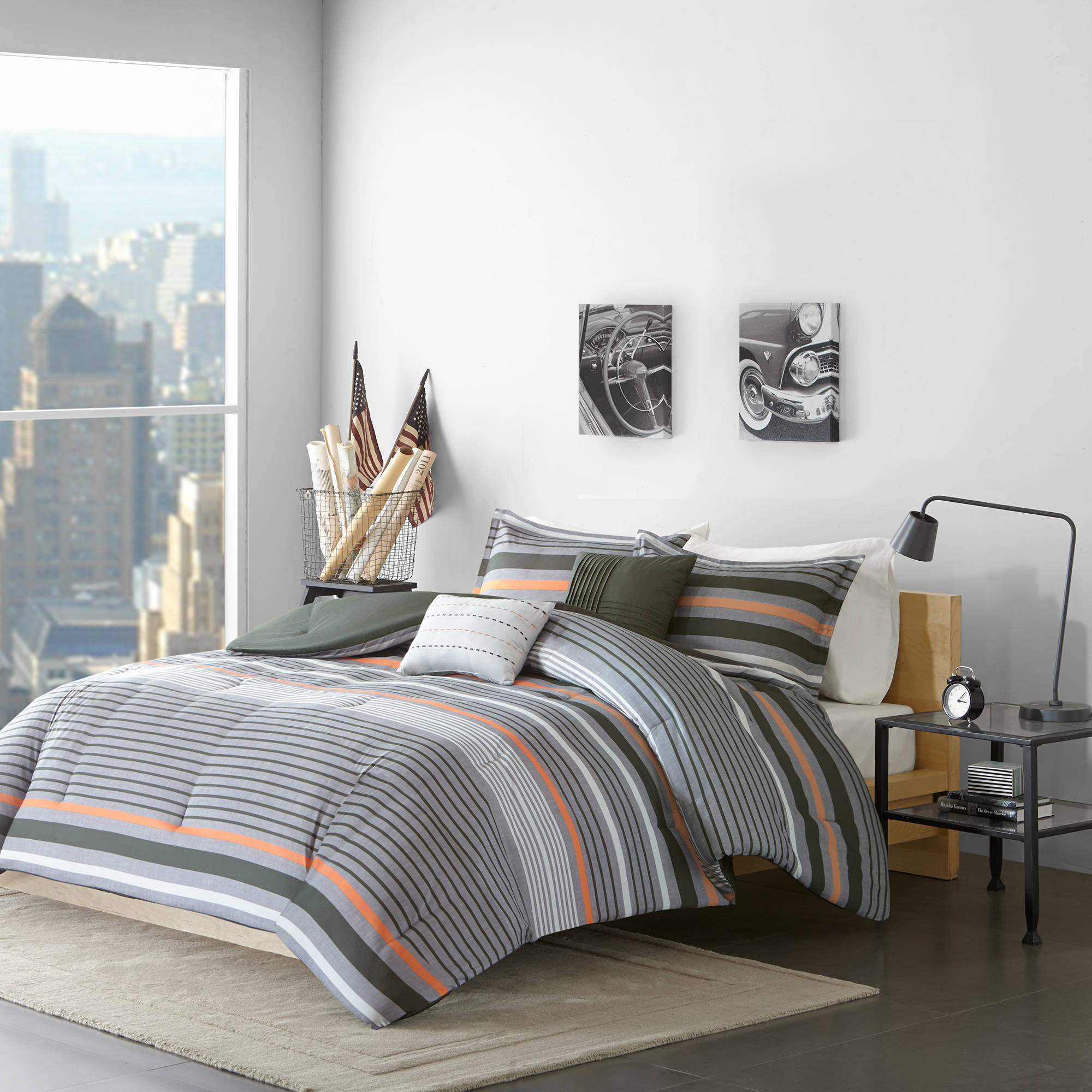 Home Essence Apartment Justin Bedding Comforter Set