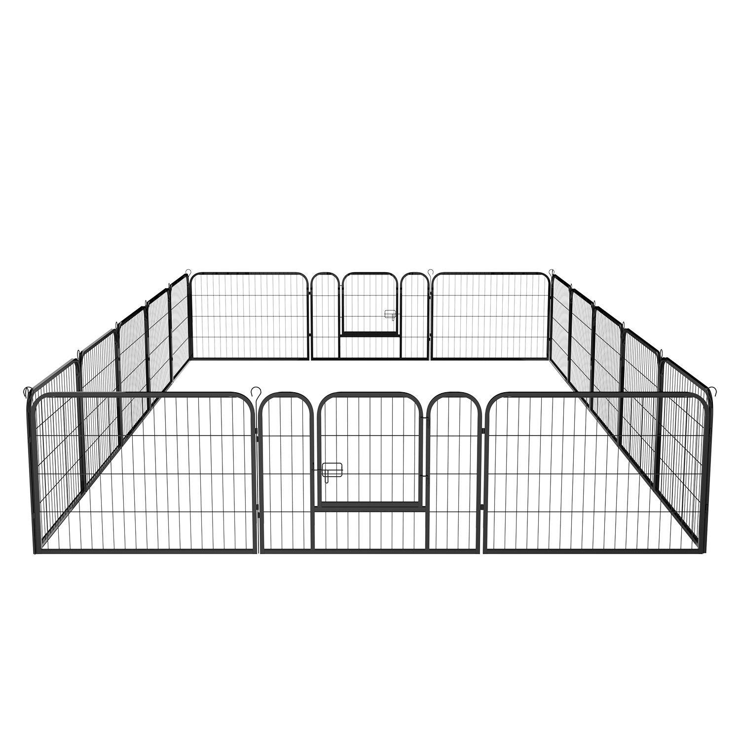 Exercise Barrier Cage 16 Panel Playpen Kennel Yard Large ...