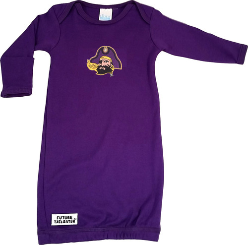 East Carolina Pirate Baby Layette Gown