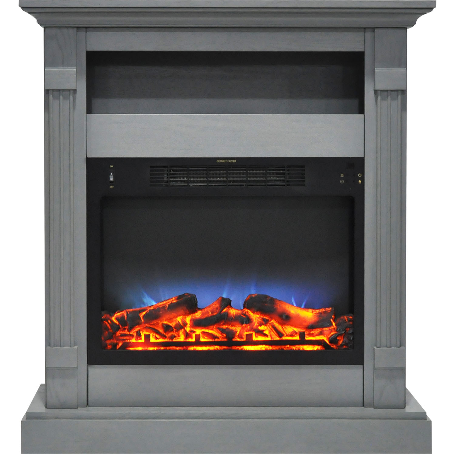 "Cambridge Sienna 34"" Electric Fireplace Mantel Heater with Multi-Color LED Flame Display"