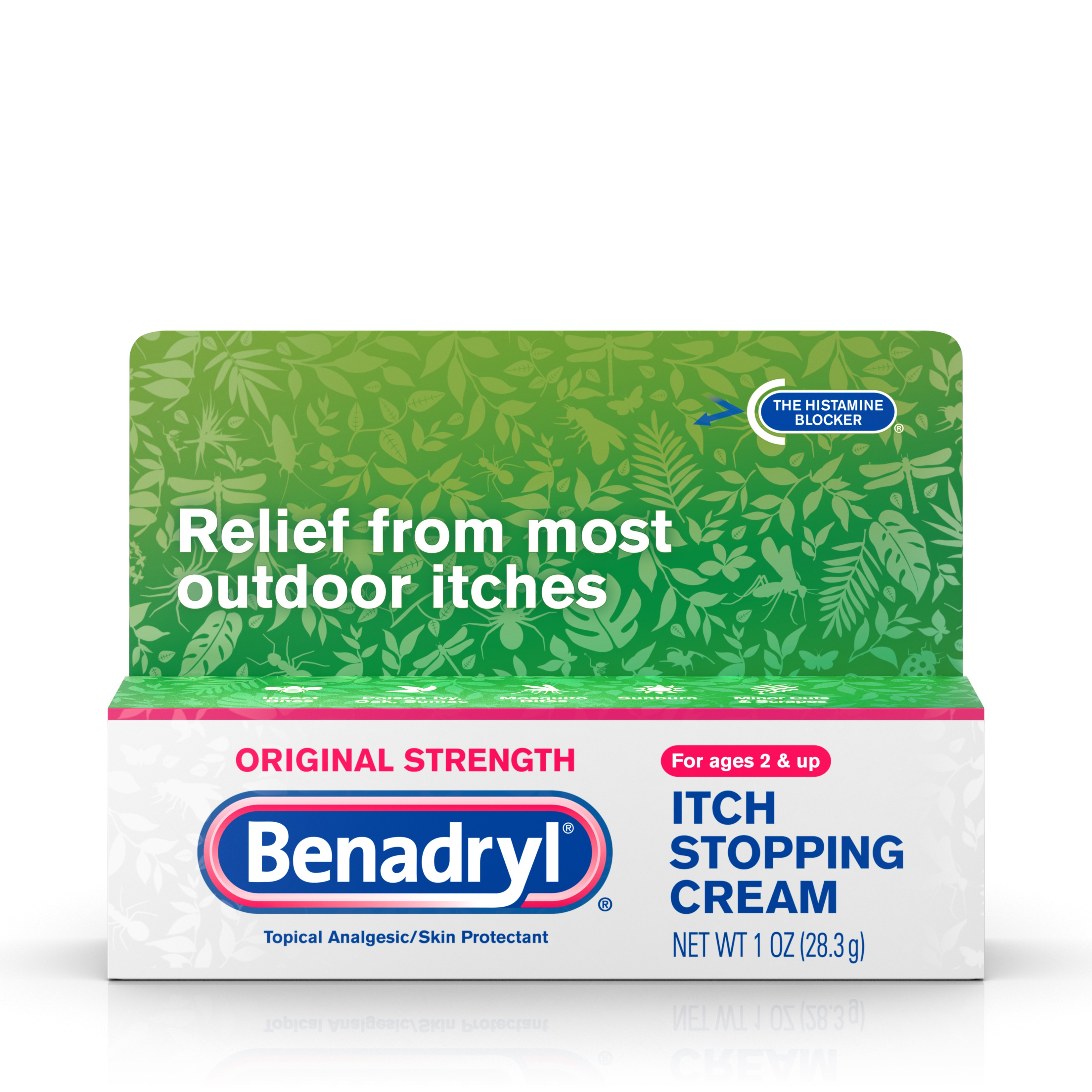 Benadryl Original Strength Itch Relief Cream, Topical Analgesic, 1 oz