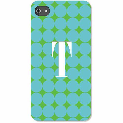 Personalized Blue Polka Dots iPhone 4 Case