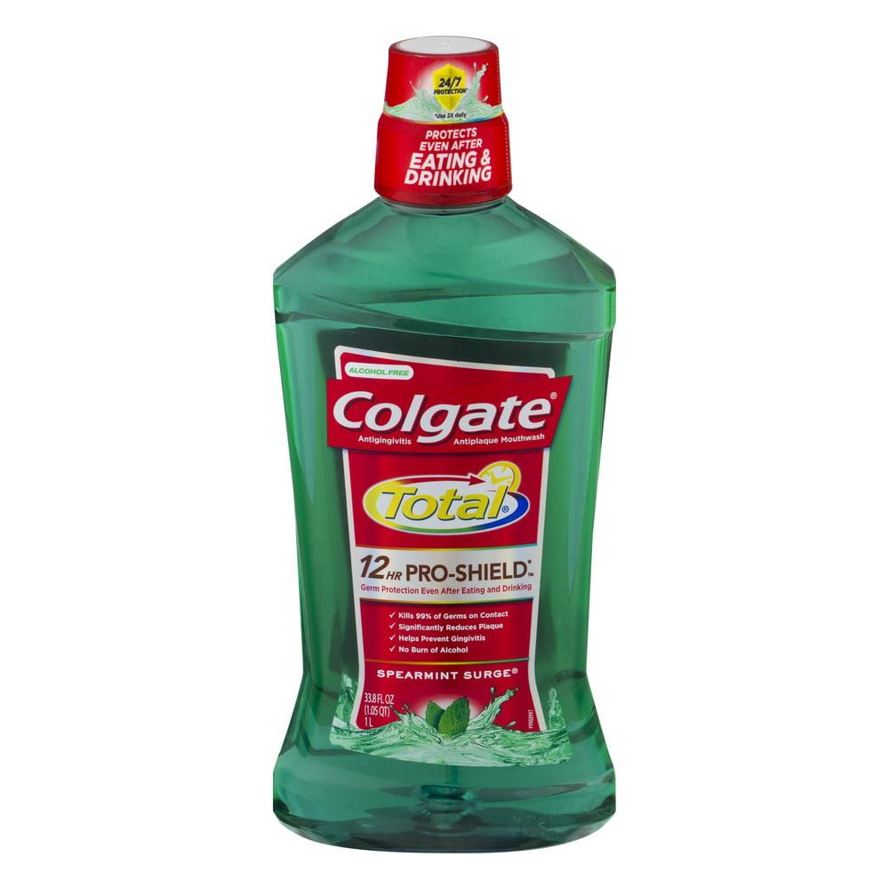 Colgate Total 12HR Pro-Shield Mouthwash Spearmint Surge, 33.8 FL OZ