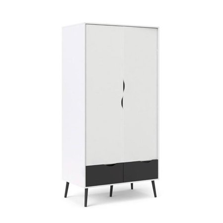 Tvilum 7539649Gm 78 X 38 X 22 In  Diana Wardrobe With 2 Drawer   2 Door